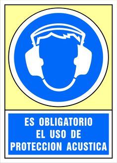 Señal es obligatorio el uso de protección acústica