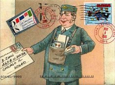 Mail Art --- it would be fun to do a drawing or image transfer of Mr. McFeely the postman from Mr. Envelope Lettering, Envelope Art, Envelope Design, Pocket Letter, Mail Art Envelopes, Zentangle, Going Postal, Decorated Envelopes, Postcard Art