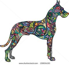 Great dane tattoo