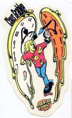 Santa Cruz Claus Grabke Melting Clocks Sticker