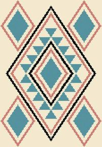Turquoise Delight Cross Stitch Pattern