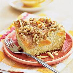 Apricot-Almond Coffee Cake Recipe   MyRecipes.com