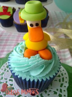 pocoyo Cupcakes, Desserts, Food, Pocoyo, Tailgate Desserts, Cupcake Cakes, Deserts, Essen, Postres
