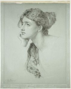 (The major gorgeous) Study of a Woman by Frederick Sandys