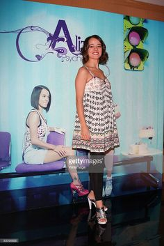 Singer Alizee attends a press conference and photocall to promote her new album, 'Psychedelices' at Hotel Presidente on March 3, 2008 in Mexico, Mexico City.