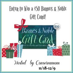 Do you love to read? Enter to win a $50 Barnes & Noble Gift Card here!