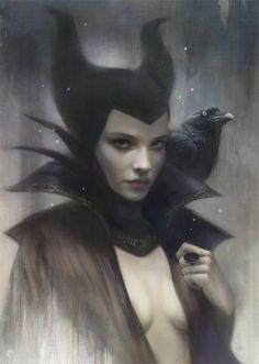 Pretend to be a Disney Character....Artist Tom Bagshaw makes wicked sexy again by putting a new style on the iconic Disney baddies. Poke the images to embiggen.