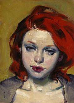 "Daily Paintworks - ""Grey Eyes"" - Original Fine Art for Sale - © John Larriva"