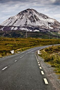 Mount Errigal County Donegal by Fergal Kearney Images Of Ireland, Erin Go Bragh, Vanishing Point, Ireland Landscape, Local Attractions, Emerald Isle, Donegal, Beautiful Places, Beautiful Moments