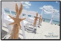 Starfish Chair Decoration for Ceremony