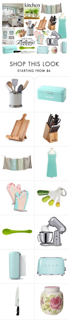 """Happy Pastels"" by orglioness ❤ liked on Polyvore featuring interior, interiors, interior design, home, home decor, interior decorating, WALL, Top Chef, Celebrate Shop and Chef'n"