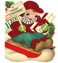 §§§ . vintage 1940s christmas card