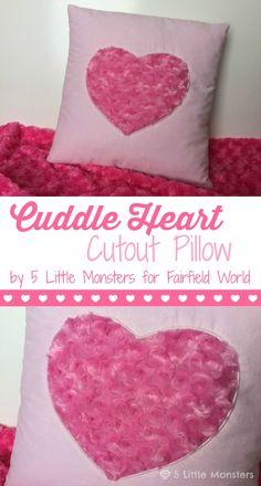 5 Little Monsters: Cuddle Heart Cutout Pillow