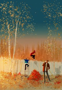 ⌨SOMETIMES, I FEEL LIKE THEY GROW TOO FAST by Pascal Campion⌨ #pascalcampion #paintings #artwork
