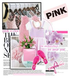 """On wednesdays, we wear PINK"" by kekesyaa ❤ liked on Polyvore featuring Blugirl, Mulberry, REMINISCENCE, Giuseppe Zanotti and Hunter"