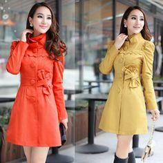 Korean fashion Women Slim windbreaker coat Jacket
