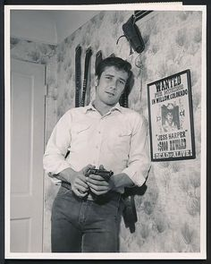 "1950's Original Photo Robert Fuller Western Star Laramine W/ ""wanted"" Poster ! from $0.99"