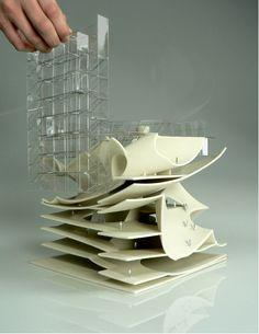 2012 Fall_ Yale School of Architecture_ Desgin Studio Scale Model by KJ Lee Yale Architecture, Architecture Sections, Conceptual Architecture, Architecture Portfolio, Mark Foster, Arch Model, Parametric Design, Design Process, Scale Models