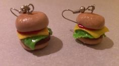 Cheeseburger Earrings by AmberGlamourLand on Etsy, $10.00