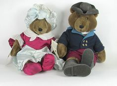 NEW George & Martha Washington Teddy Bears Carousel Stuffed Plush Mt Vernon NWT  #CarouselbyGuy