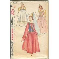 Simplicity 4071 Girls 1950s Vintage Angel by mystiquevintage