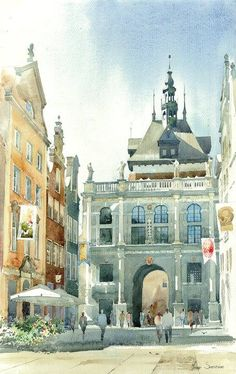 By Michal Suffczynski, Polish Architect and Watercolor Artist  watercolor