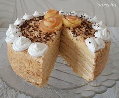 Jablkovo-smotanová torta Apfelmus (fotorecept) - recept | Varecha.sk Vanilla Cake, Food, Basket, Essen, Meals, Yemek, Eten
