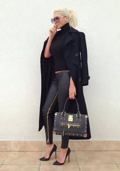 Love this outfit. Want the pants NOW! Love the pony too. Look Fashion, Girl Fashion, Fashion Outfits, Womens Fashion, Ladies Fashion, Street Fashion, How To Have Style, My Style, Rocker Look