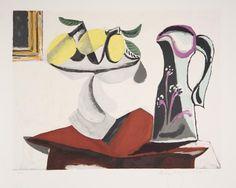 Picasso    Title: Nature Morte au Citron et a la Cruche  Year of Original: 1934  Medium: Lithograph on Arches Paper  Edition: 500, 34 AP's    Paper Size: 22 x 29 inches