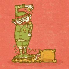 'L' is for Gold!—Wait no...Leprechaun!Monster Alphabet by Chris Dedinsky
