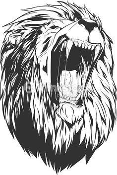 Lion Head Wall Vinyl Sticker - Roar Animal King Face Window Art Decor Silhouette Decal - Wow Tattoo Stick On Laptop Unique Room Print Lion Vector, Free Vector Art, Vector Vector, Animal Sketches, Animal Drawings, Lion Head Drawing, Tattoo L, Lion Sketch, Lion Head Tattoos