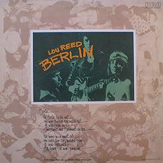 The Album from 1973 which was made into a performance concert with the help of Julian Schnabel in 2006. #LouReed