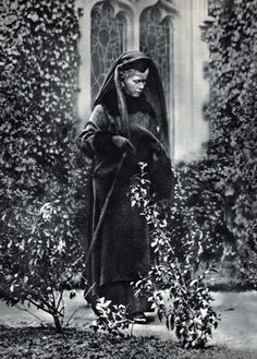 Queen Mary on the day of the funeral of Queen Alexandra, 1925.