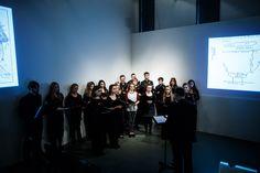University Cecilian Choir, conducted by Dan Harding, performing David Lang's 'Memorial Ground' in Studio 3 Gallery, November Image: Matt Wilson University Of Kent, Choir, Dan, November, Memories, Studio, Concert, Gallery, Music