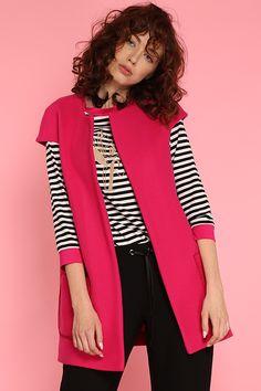 #furelle #furellefashion #furellestyle #style #fashion #designer #fashiondesigner #takaja #beyourself #woman #womanfashion #fashionity #womanity #womanhood #takaja #womandress #springsummer #2017 #colors #lovetocolor #feminine #woman #fuschia #vest #stripedshirt 2017 Colors, Colours, Elle Fashion, Womens Fashion, Feminine, Vest, Spring Summer, Blazer, Woman