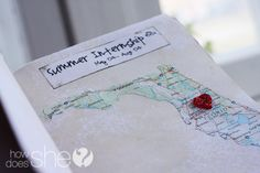 Traveling Map O' Love - The cutest homemade Valentine's Day gift for your spouse ever!! #gift #valentinesday #spousegift