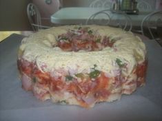 Tupperware jel ring pizza. Always a favourite with my family!