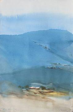 "Saatchi Art Artist prashant prabhu; Painting, ""On locale in Ranikhet 1"" #art"