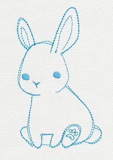 This baby bunny is ready to adorn anything your heart desires. Stitch alone or with other friends. $2