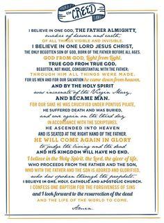 """Nicene Creed/Credo - """"I believe. Becoming Catholic, Dynamic Catholic, Catholic Confirmation, Catholic Prayers, Catholic Theology, Catholic Kids, God Prayer, Prayer Book, Nicene Creed Catholic"""