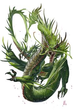 Young Forest Dragon by BenWootten