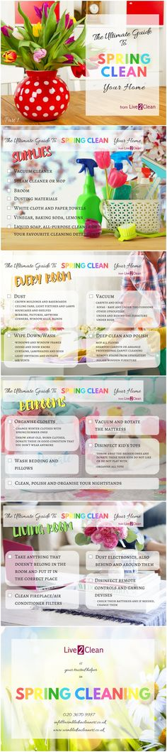 The ultimate checklist for your spting cleaning - Part 1