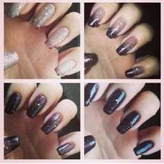 Colour Change Black Grey Shellac Nails Two Coats On A White Base With Thin Layer Of Beau Top Love Them These Are My At Room Temperatur