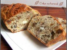 Cake automnal par CaroCuisine. Du chèvre, des figues, des noix, du jambon... Un régal !