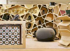 Sergio Rossi Store in Casablanca - Morocco. Shelves by younes duret.