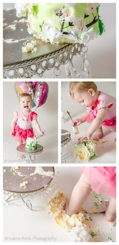 Baby Girl One Year Smash Cake