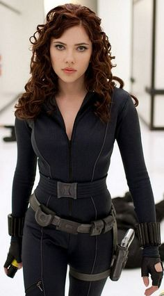 Scarlett as Natasha Romanoff / Black Widow, Hot @pabonster you could do this with the hair and stuff (if we decided to do marvel comics...that'd be sick)