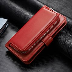 Cases, Covers & Skins Luxury Leather Removable Zipper Wallet Card Purse Case Cover For Cell Phones Leather Case, Pu Leather, Leather Wallet, Bag Packaging, How To Get Money, St Kitts And Nevis, Multifunctional, Card Wallet, 6s Plus
