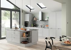 Shepford handle less style kitchen doors finished in Light Grey Replacement Kitchen Doors, Kitchen Styling, It Is Finished, Table, Design, Furniture, High Gloss, Home Decor, Ivory