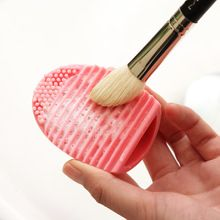 Silicone Cosmetic Makeup Brush  Cleaning Foundation Makeup Cleaning Tools Pink/Blue  Color(China (Mainland))